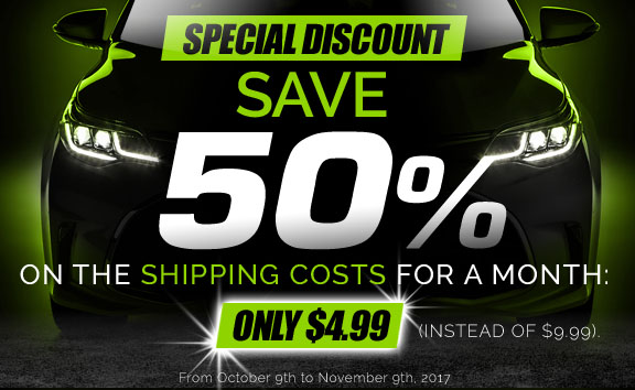 -50% on shipping costs this month