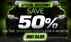 Special deal -50% on shipping costs