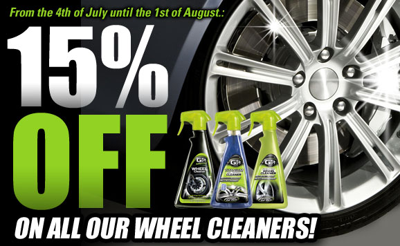 Special offer : 15% off on all our wheel cleaners